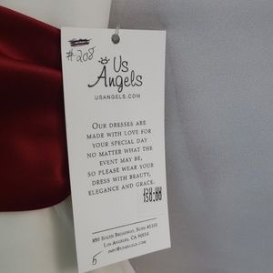 Us Angels Dresses - US ANGELS ORGANZA FLOWER GIRL DRESS 208 SIZE 5